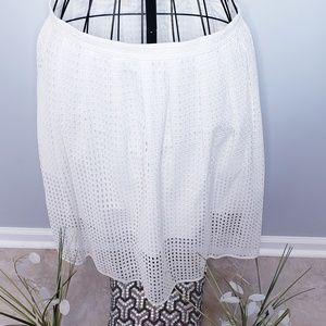 Michael Kors eyelet skirt with pockets!